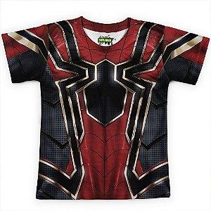 Camiseta Infantil Homem Aranha Traje Spider-Man Guerra Infinita Md07