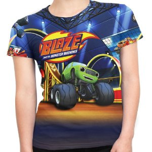 Camiseta Baby Look Feminina Blaze And The Monster Machines