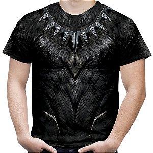Camiseta Masculina Pantera Negra Traje
