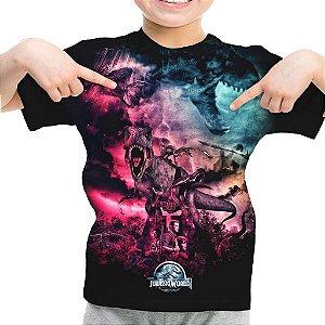 Camiseta Infantil Parque dos Dinossauros Jurassic World Md02