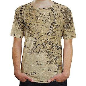 Camiseta Masculina Terra Média Senhor Dos Anéis