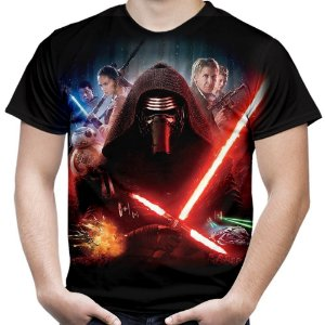 Camiseta Masculina Kylo Ren Star Wars Estampa Total Md03