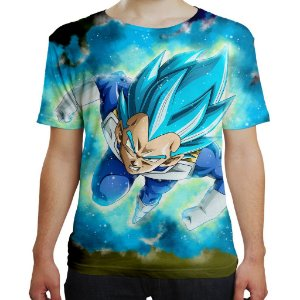 Camiseta Masculina Vegeta Dragon Ball Super MD10