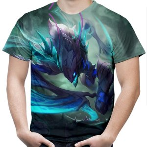 Camiseta Masculina Kha'Zix League of Legends Estampa Total