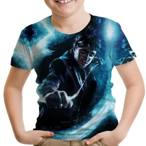Camiseta Infantil Harry Potter Estampa Total Md04