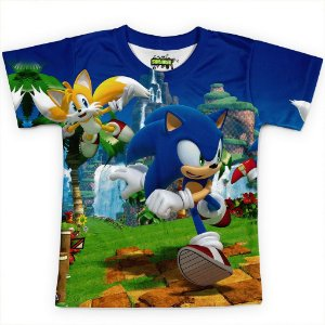Camiseta Infantil Sonic