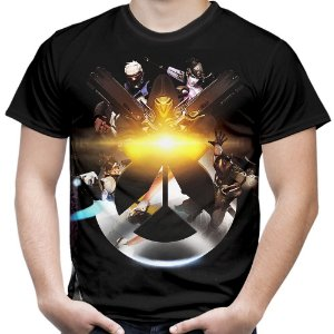 Camiseta Masculina Overwatch Estampa Total Md03