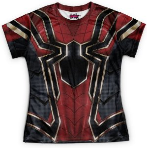 0cb93bd23 Camiseta Masculina Manga Longa Homem Aranha Traje Spider-Man Guerra ...