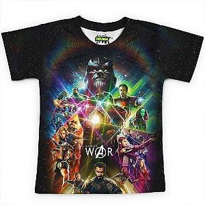 Camiseta Infantil Guerra Infinita Avangers MD1