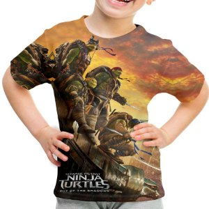 Camiseta Infantil Tartarugas Ninja Estampa Total Md02