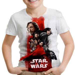 Camiseta Infantil Star Wars VIII 8 MD04
