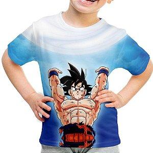 Camiseta Infantil Goku Genki Dama Estampa Total MD03