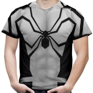 Camiseta Masculina Homem Aranha Traje Estampa Total Md03
