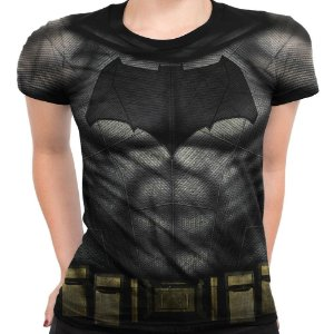 Baby Look Feminina Batman Traje Md02