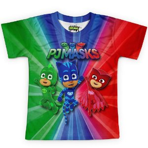 Camiseta Infantil PJ Masks Md02