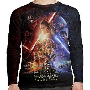 Camiseta Star Wars VII Manga Longa Unissex