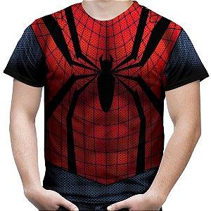 Camiseta Masculina Homem Aranha Traje Estampa Total Md02