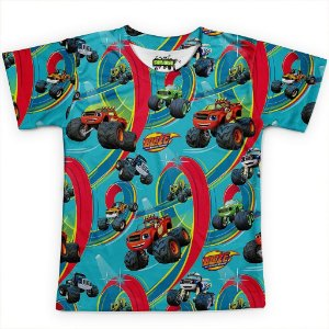 Camiseta Infantil Blaze And The Monster Machines Md02