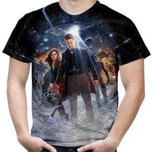 Camiseta Masculina Doctor Who Estampa Total Md07