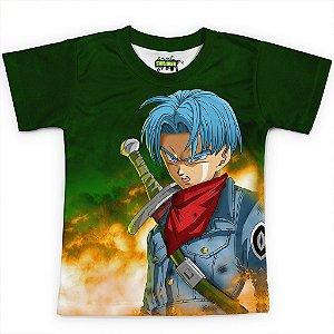Camiseta Infantil Trunks Dragon Ball Super MD7