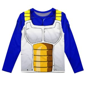 Camiseta Infantil Manga Longa Vegeta Dragon Ball