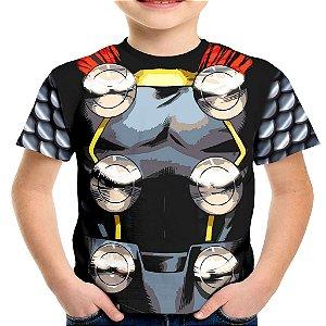 Camiseta Infantil Thor Traje Estampa Total