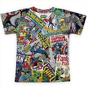 Camiseta Infantil Quadrinhos Marvel