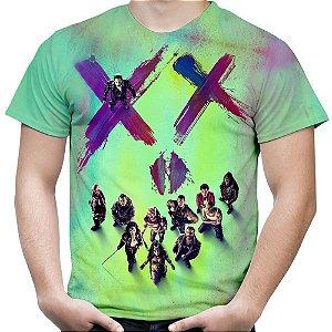 Camiseta Masculina Esquadrão Suicida Estampa Total Md01