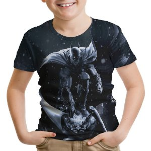 Camiseta Infantil Batman Arkham Estampa Total