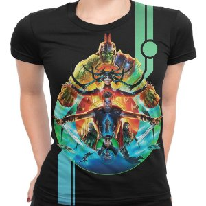 Camiseta Baby Look Feminina Thor Ragnarok Md03