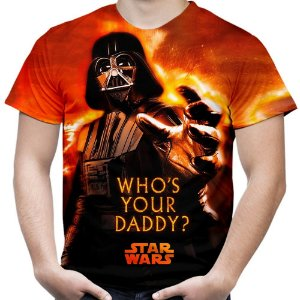 Camiseta Masculina Darth Vader Star Wars Estampa Total Md01