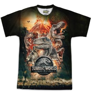 Camiseta Masculina Parque dos Dinossauros Jurassic World Md04
