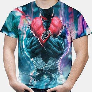 Camiseta Masculina Ryu Street Fighter Estampa Total