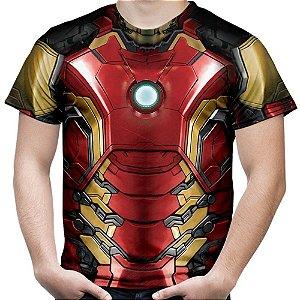 Camiseta Masculina Homem De Ferro Iron Man Traje Md03