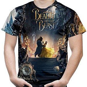 Camiseta Masculina A Bela e a Fera Estampa Total