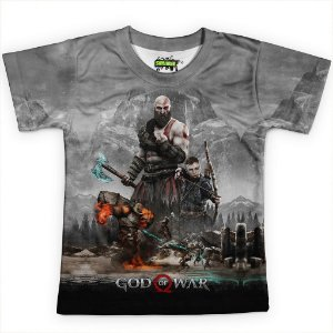 Camiseta Infantil Jogo God of War Md01