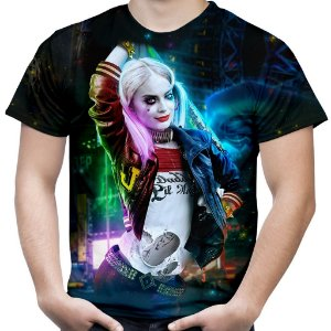 Camiseta Masculina Arlequina Harley Quinn  - Batman Universe