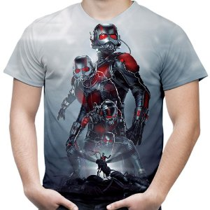 Camiseta Masculina Homem Formiga Estampa Total Md02