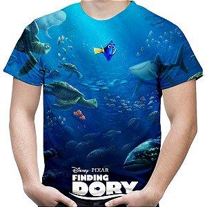 Camiseta Masculina Procurando Dory  Estampa Total MD02