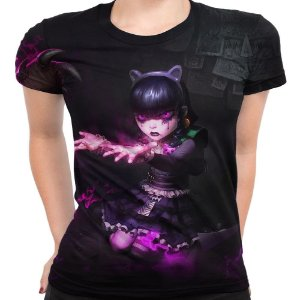 Camiseta Baby Look Feminina Annie Gótica League Of Legends 2