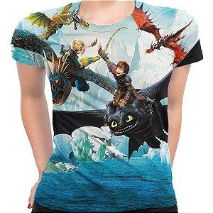 Camiseta Baby Look Feminina Como Treinar Seu Dragão Md02