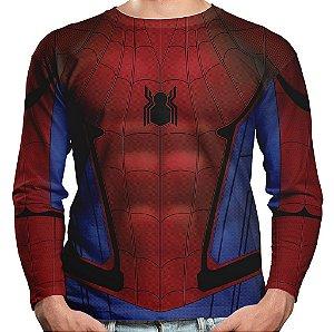 Camiseta Homem-Aranha Manga Longa Unissex Md06