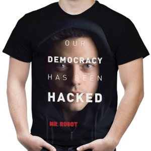 Camiseta Masculina Mr. Robot Estampa Total Md02