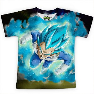 Camiseta Infantil Vegeta Dragon Ball Super MD10