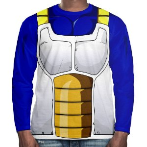 Camiseta Vegeta Dragon Ball Manga Longa Unissex Traje