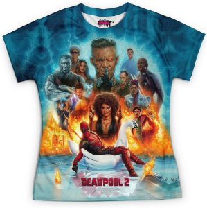 Camiseta Baby Look Filme Deadpool Md08
