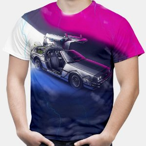 Camiseta Masculina DeLorean De Volta Para o Futuro Estampa Total