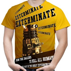 Camiseta Masculina Dalek Doctor Who Estampa Total