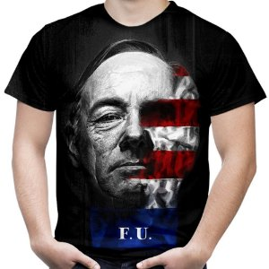 Camiseta Masculina House of Cards Estampa Total Md01