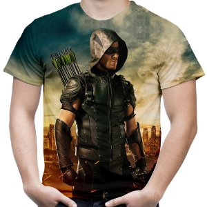 Camiseta Masculina Arrow Estampa Total